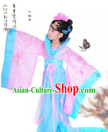 Ancient Chinese Tang Dynasty Princess Clothing for Girls