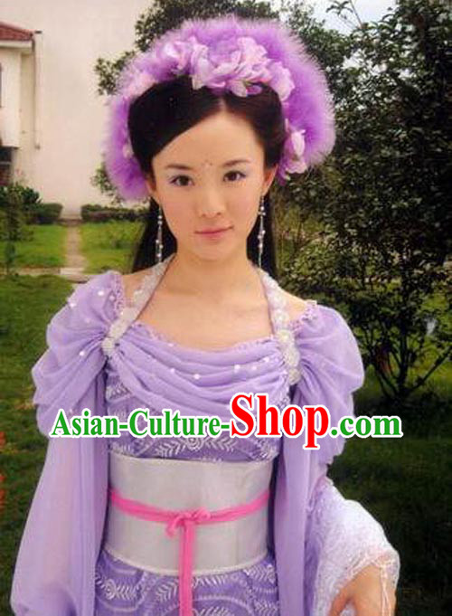 Ancient Chinese Fairy Purple Costumes