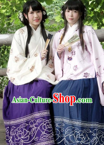 Ming Dynasty Princess Embroidered Hanfu Clothes Complete Set