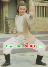 The Return of the Condor Heroes Shen Diao Xia Lv TV Drama Guo Jing Swordsman Costumes for Men
