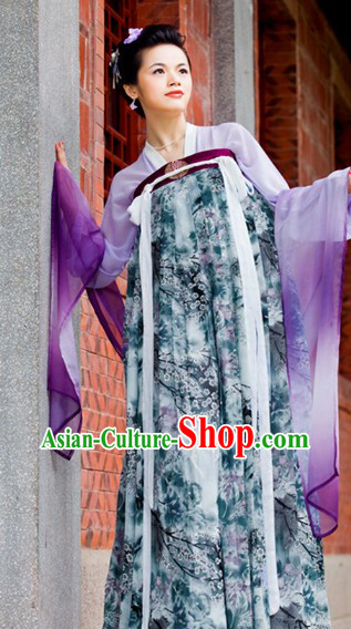 Chinese Classical Tang Dynasty Princess Attire Complete Set