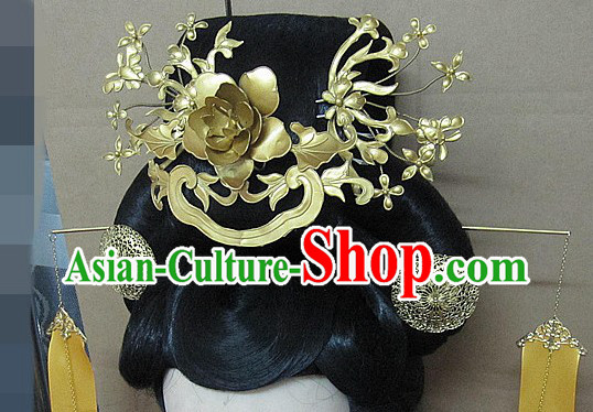 Ancient Chinese Imperial Palace Wig and Hair Accessories