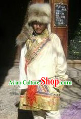 Traditional Tibetan Clothing and Hat for Men