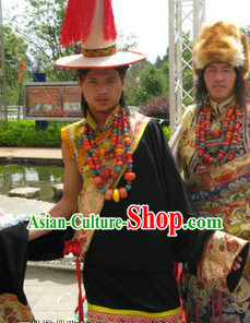 Traditional Tibetan Male Clothing and Hat