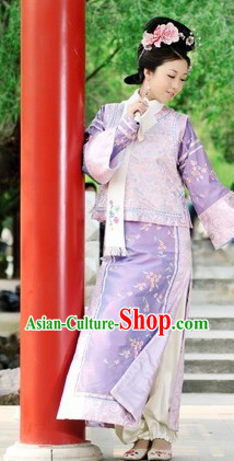 Qing Dynasty Manchu Ethnic Princess Costumes for Women