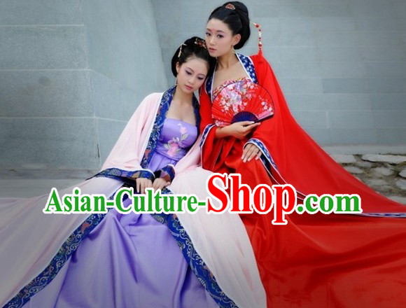 Ancient Chinese Hanfu Clothes for Sisters