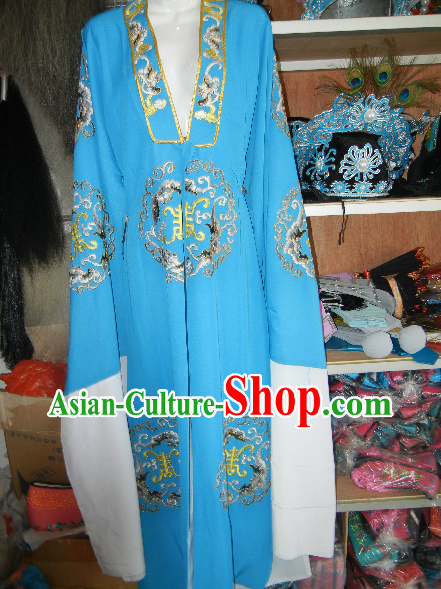 Ancient Chinese Huangmei Opera Embroidered Robe for Men