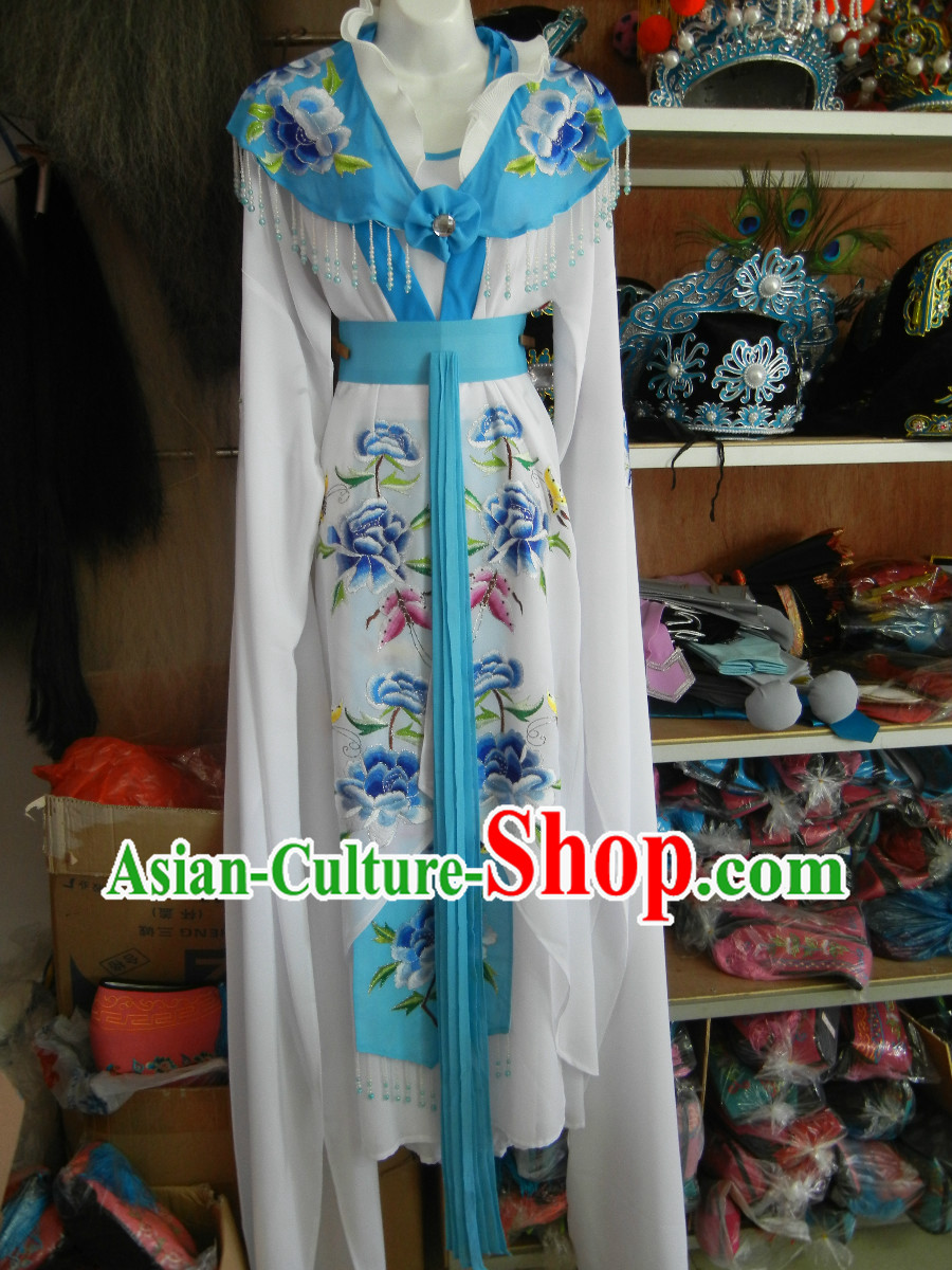 Traditional Chinese Water Sleeve Embroidered Lady Outfit
