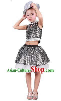 Stage Performance Cool Modern Dance Costume for Kids