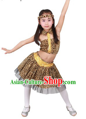 Stage Performance Savage Dance Costumes for Kids