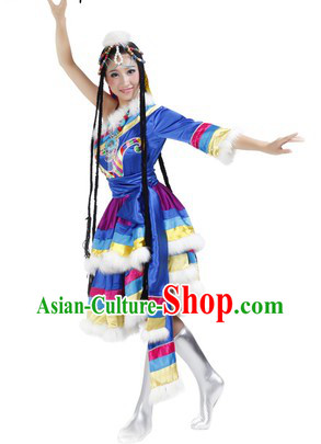 Traditional Tibetan Clothing and Headwear for Women