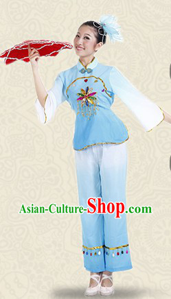Traditional Stage Performance Napkin Dance Costumes for Women