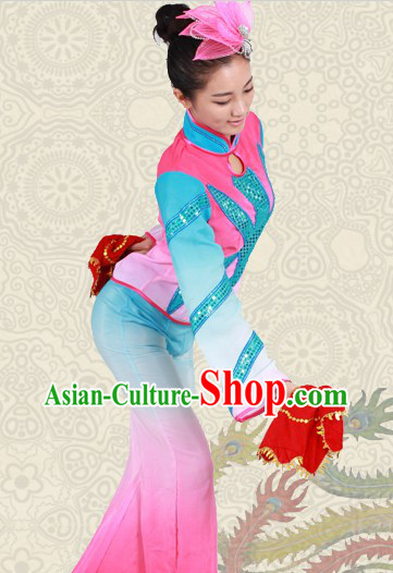 Stage Performance Handkerchief Dance Outfit for Women