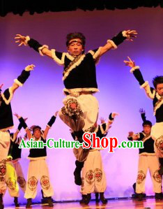 Mongolian Minority Dance Costumes for Men