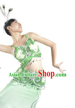 Ethnic Tribe Peacock Dance Clothes for Women