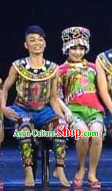 Miao Tribe Couple Clothing for Men and Women