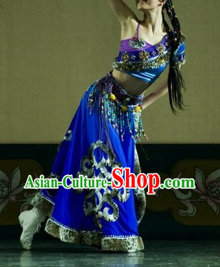 Traditional Chinese Xizang Province Dress for Women