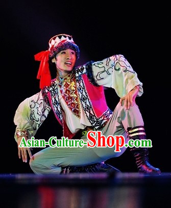 Traditional Chinese Xinjiang Boy Dress and Hat