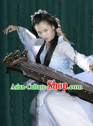 Ancient Chinese Kung Fu Master Costumes and Headwear for Women