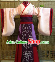 Ancient Chinese Han Dynasty Imperial Princess Clothes Complete Set