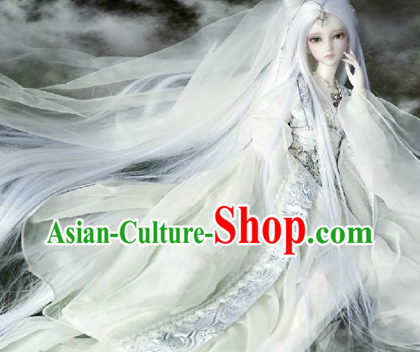 Ancient Chinese Moonlight Witch Costumes and Headwear for Women