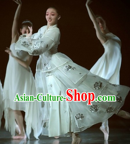 The Peony Pavilion Ballet Stage Performance Classical Dancing Costumes Complete Set for Women