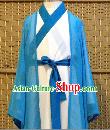 Traditional Chinese Zhuge Liang Costumes and Hat Complete Set for Kids