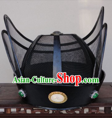 Ancient Chinese Black Hanfu Official Hat for Men