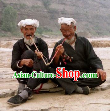 Shanbei Old Farmer Chinese Poor People Costumes and Headwear