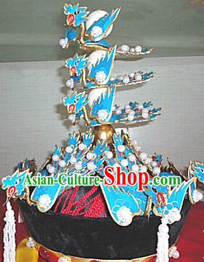 Ancient Chinese Qing Dynasty Empress Phoenix Hat