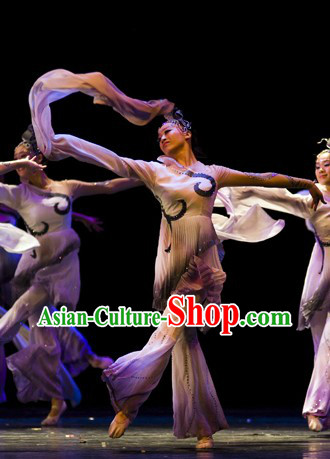 Traditional Chinese Classical Dance Attire Complete Set for Women