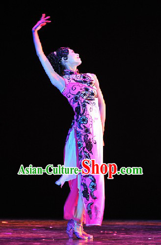 Traditional Chinese Classical Dancing Costumes Complete Set for Women