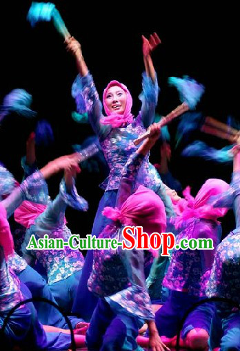 Chinese Classical Fisherwoman Costumes and Headwear for Women