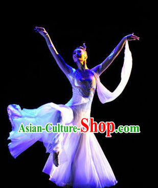 Stage Performance Solo Dance Costumes and Headwear for Women