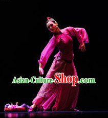Stage Performance Chinese Beauty Dance Costumes and Headwear for Women
