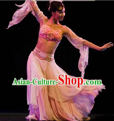 Ancient Chinese Classical Dance Outfits Complete Set for Women