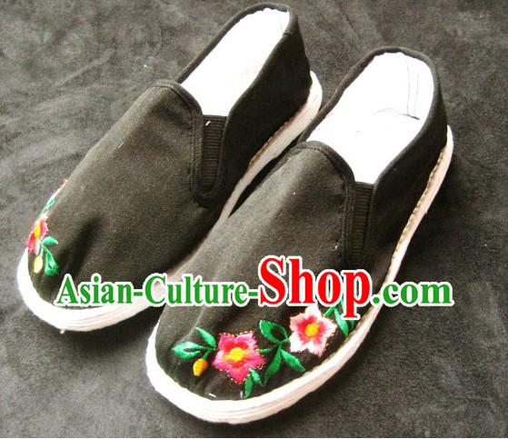 Old China Time All Handmade Chinese Thick Sole Cotton Shoes