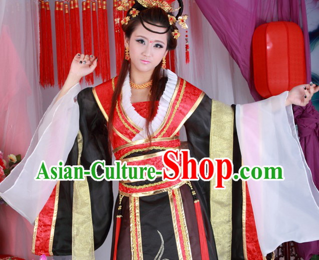 Ancient Chinese Tang Dynasty Princess Clothes Complete Set for Women
