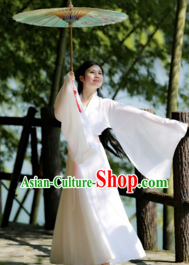 Traditional Ancient Chinese White Hanfu Clothes for Women