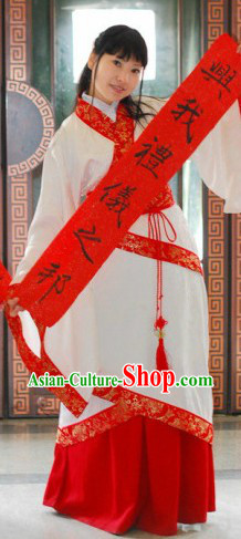 Traditional Ancient Chinese Guzhuang Quju Clothes for Women