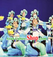 Chinese Classical Yi Tribe Clothes and Headwear Complete Set for Women