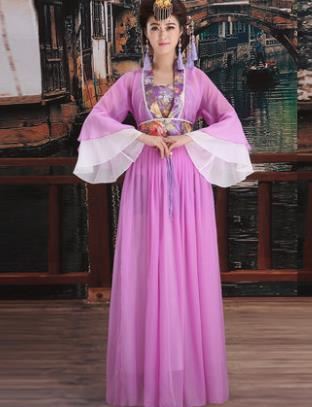 Ancient Chinese Princess Costumes and Headwear Complete Set for Women