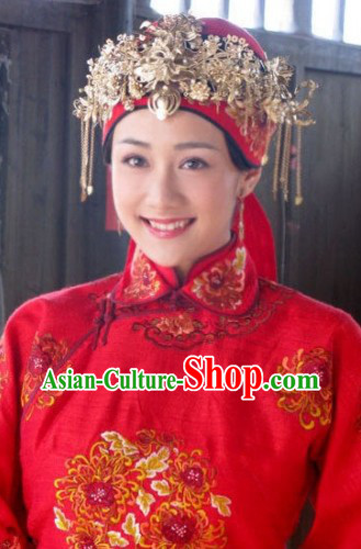 Ancient Chinese Wedding Headwear for Brides