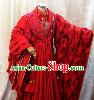 Ancient Chinese Empress Wedding Cosplay Costumes Complete Set for Women