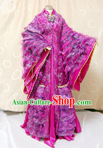 Ancient Chinese Imperial Palace Empress Cosplay Dresses Complete Set