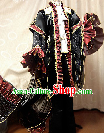 Ancient Chinese Imperial Palace Emperor Cosplay Clothing Complete Set
