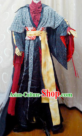 Ancient Chinese Desert Sworman Cosplay Costumes Complete Set