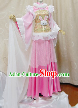 Ancient Chinese Rabbit Princess Cosplay Outfits Complete Set