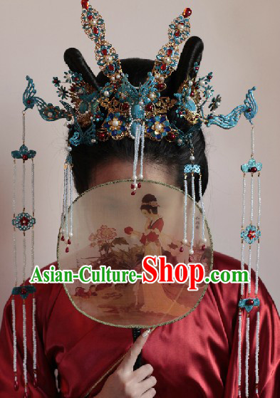 Chinese Marriage Customs Imperial Palace Ming Dynasty Princess Phoenix Wedding Headwear Complete Set