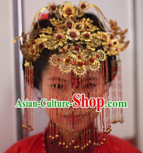 Ancient Chinese Marriage Rituals Imperial Palace Princess Phoenix Wedding Headwear